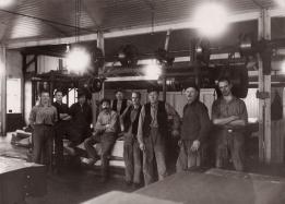 Arbetare i arksalen 1936.