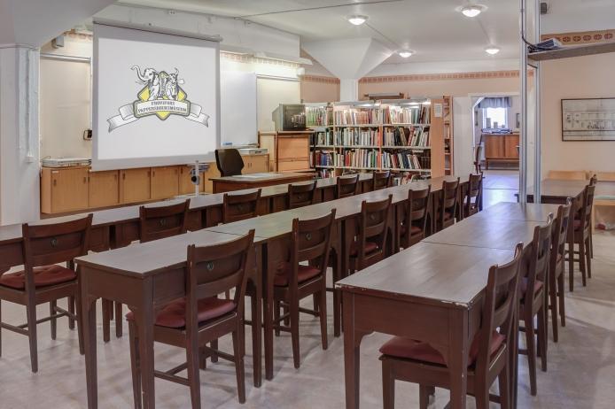 I museets bibliotek finns konferensmöjligheter.