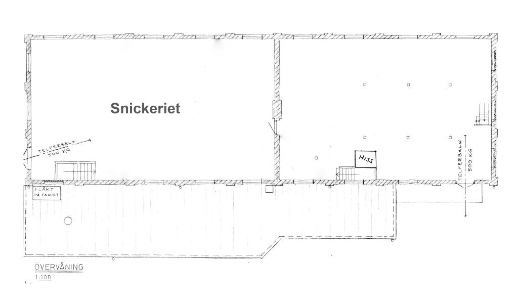 Planskiss, övervåningen.