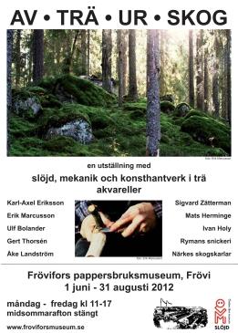 Av trä ur skog affisch